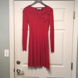 Medium red sweater dress